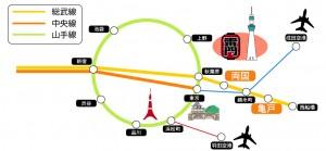 秀林ロケーションマップ